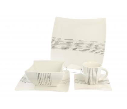 Zestaw obiadowo-kawowy 30 cz. dla 6 SILVER LINE