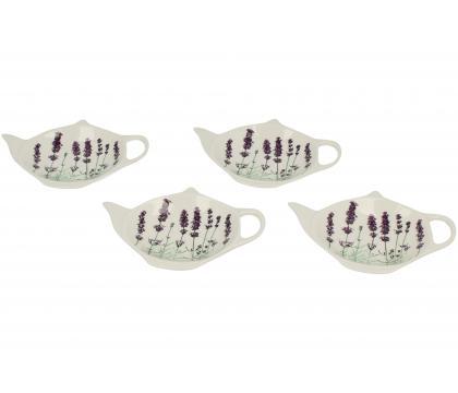 Komplet 4 podkładek na torebkę z herbaty LAVENDER