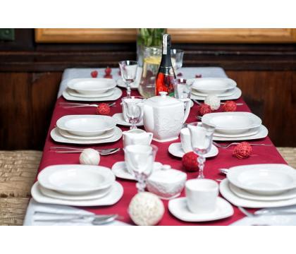 Komplet obiadowy 18 cz. kwadratowy HEMINGWAY
