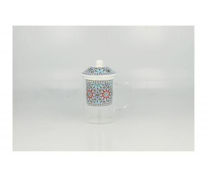 Szklany kubek z porcelanowym filtrem MAROKO C