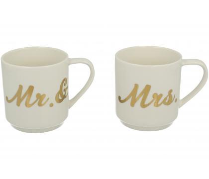 Komplet 2 kubków classic MR & MRS