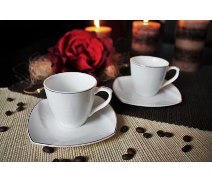 Komplet 2 filiżanek espresso 90 ml ze spodkami LEROS