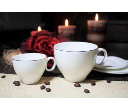 Komplet 2 filiżanek espresso 90 ml ze spodkami MILOS