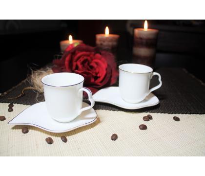 Komplet 2 filiżanek espresso 90 ml ze spodkami SAMOS