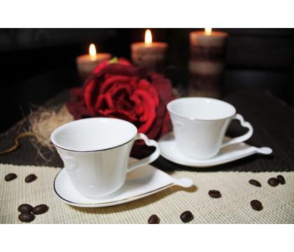 Komplet 2 filiżanek espresso 90 ml ze spodkami TINOS