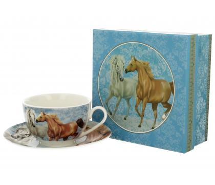 Filiżanka ze spodkiem 250 ml HORSES