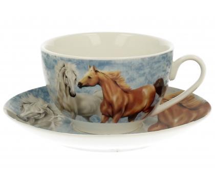 Filiżanka ze spodkiem HORSES