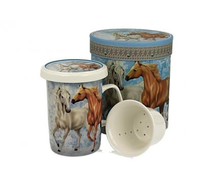 Kubek z zaparzaczem 320 ml HORSES