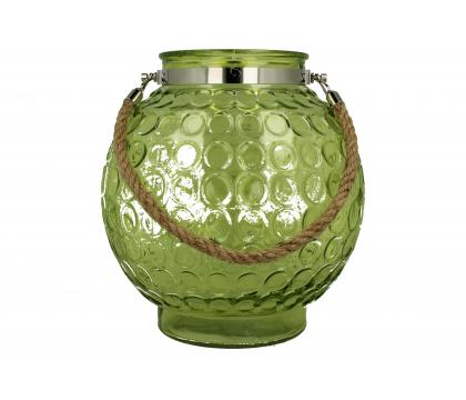 Lampion szklany okrągły 26x28,5 cm