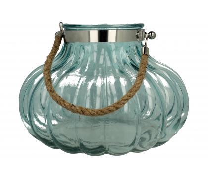 Lampion szklany okrągły 31,5x22 cm