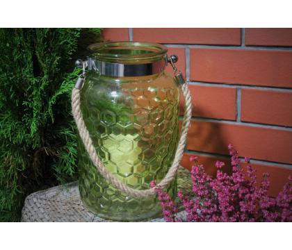 Lampion szklany walec 19,2x30 cm