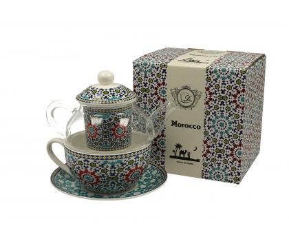 Filiżanka z dzbankiem szklanym / Tea for One MAROKO