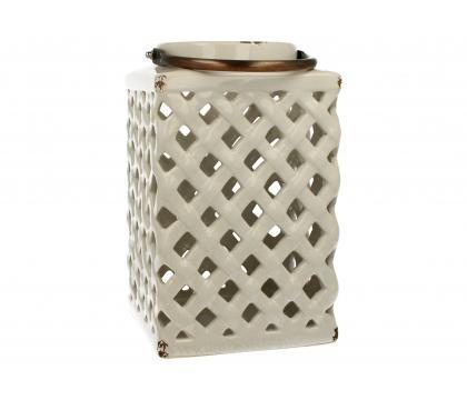 Lampion ceramiczny 26 cm biały YSC074B-S7255C
