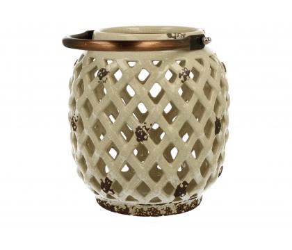 Lampion ceramiczny 16,7 cm kremowy YSD104C-5#GB