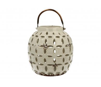 Lampion ceramiczny 17,8 cm biały YSD374A-S5120