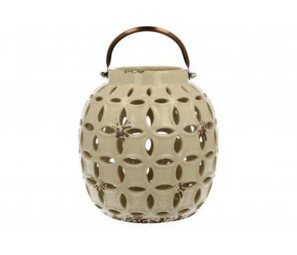 Lampion ceramiczny 17,8 cm kremowy YSD374A-S5120