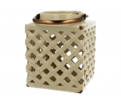 Lampion ceramiczny 18 cm kremowy YSC074C