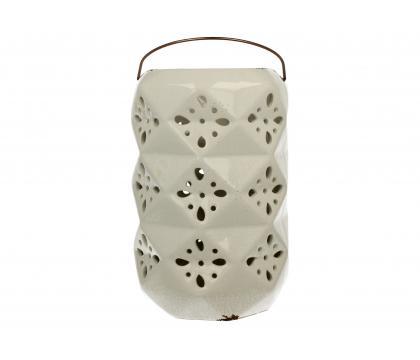 Lampion ceramiczny 26 cm biały YSD895-B89