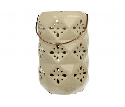 Lampion ceramiczny 26 cm kremowy YSD895-B89