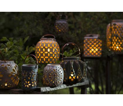 Lampion ceramiczny 27,5 cm kremowy YSD681-B122
