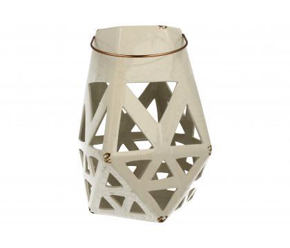 Lampion ceramiczny 27,5 cm biały YSD681-B122