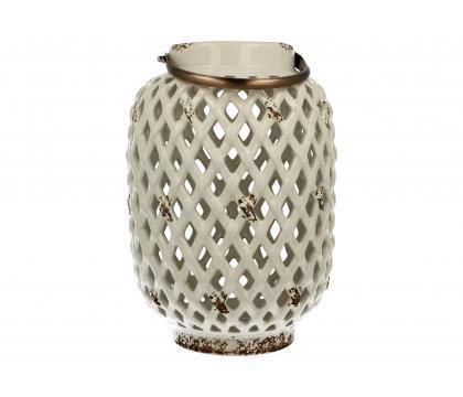 Lampion ceramiczny 28,5 cm biały YSD104A-6#GR