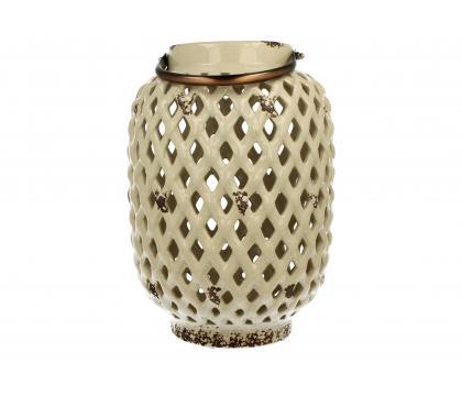 Lampion ceramiczny 28,5 cm kremowy YSD104A-6#GR