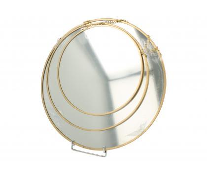 Zestaw 3 okrągłych luster GOLD