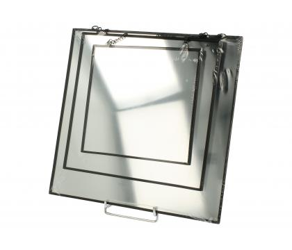 Zestaw 3 kwadratowych luster BLACK