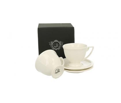 Filiżanki espresso ze spodkami 110 ml 2 szt. komplet CASSETTE