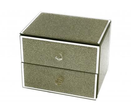 Szkatułka z szufladkami GOLD GLILTTER