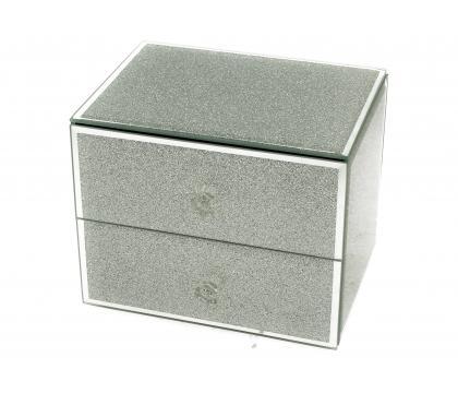 Szkatułka z szufladkami SILVER GLITTER
