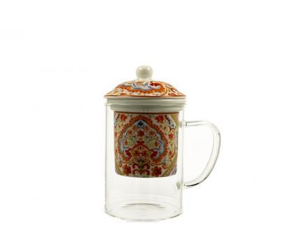 Szklany kubek z zaparzaczem 450 ml ESPANIA