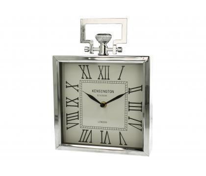 Zegar kwadrat 20 cm SILVER