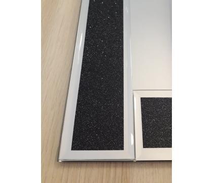 Lustro 50x50 cm kwadrat BLACK