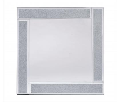 Lustro 50x50 cm kwadrat SILVER GLITTER