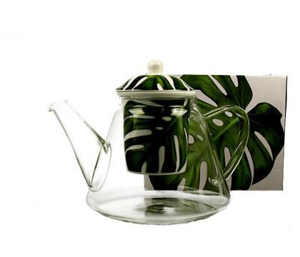 Dzbanek szklany z zaparzaczem 1200 ml MONSTERA