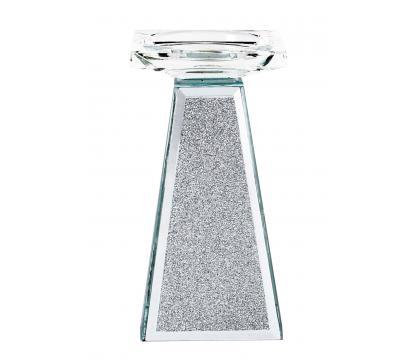 Świecznik kolumna 17,5 cm SILVER