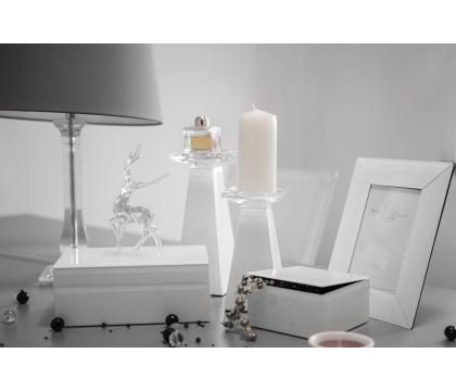 Świecznik kolumna 17,5 cm WHITE