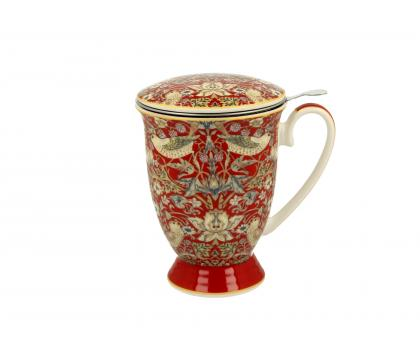 Kubek 300 ml z zaparzaczem RED William Morris