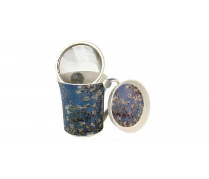 Kubek 330 ml z zaparzaczem Almond Blossom by V. van Gogh