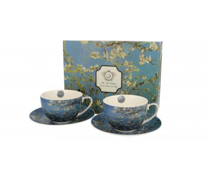 Filiżanki ze spodkami 280 ml komplet 2 szt  Almond Blossom by V. van Gogh