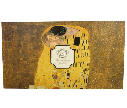Filiżanki ze spodkami 250 ml komplet 6 szt  THE KISS by Gustav Klimt