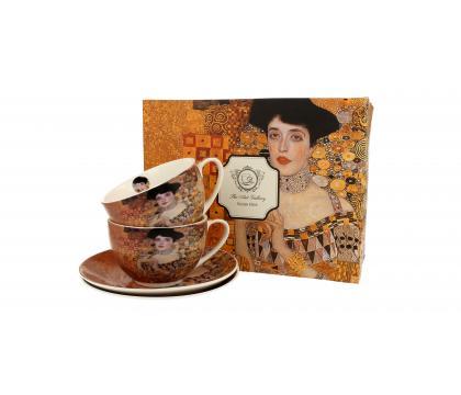 Filiżanki ze spodkami 280 ml komplet 2 szt ADELE BLOCH-BAUER I by Gustav Klimt