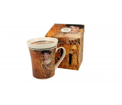 Kubek 330 ml z zaparzaczem ADELE BLOCH-BAUER I by Gustav Klimt