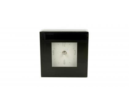 Zegar 12 cm BLACK MAT