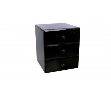Szkatułka z szufladami BLACK MAT