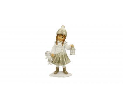 Figurka Dziewczynka z misiem 13 cm