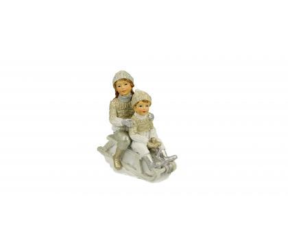 Figurka Dzieci na sankach 11 cm