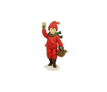 Figurka Chłopiec z dzwonkiem 18,5 cm